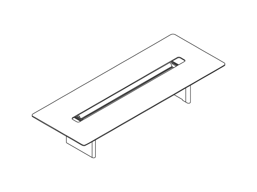 A line drawing - Axon Table–Rectangular