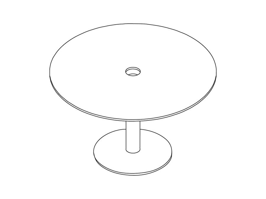 A line drawing - Axon Table–Round