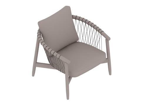 A generic rendering - Crosshatch Lounge Chair