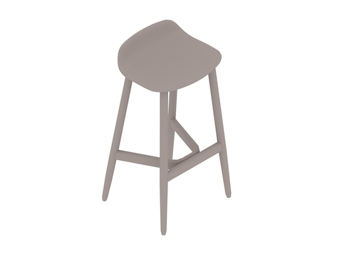 A generic rendering - Crosshatch Stool–Bar Height