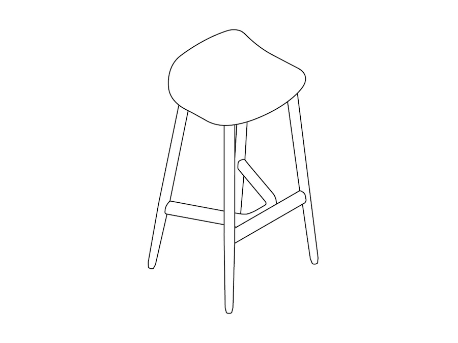 A line drawing - Crosshatch Stool–Bar Height