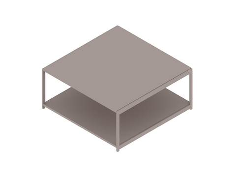A generic rendering - H Frame Coffee Table