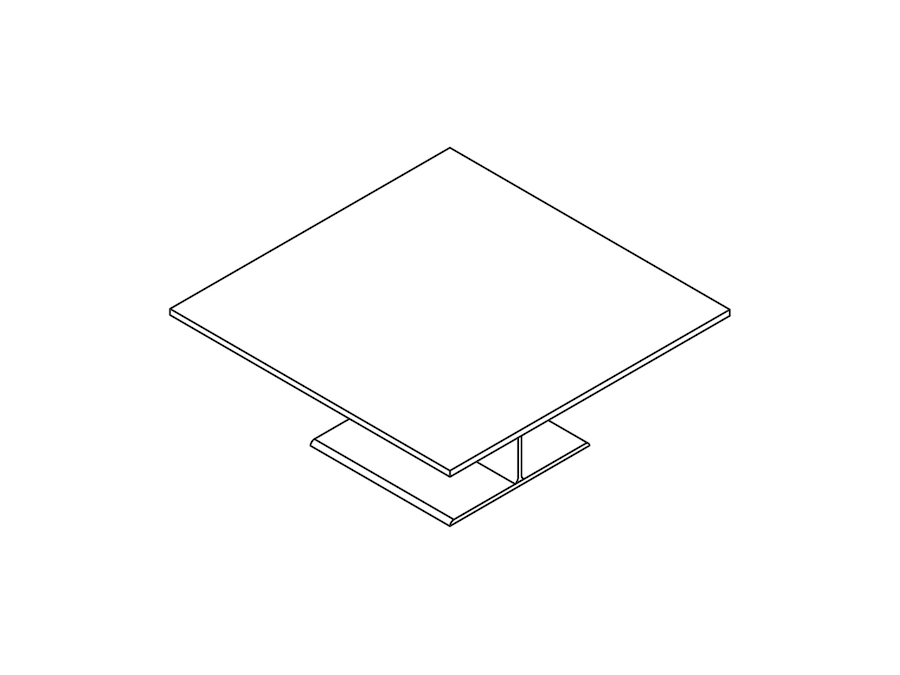 A line drawing - I Beam Coffee Table