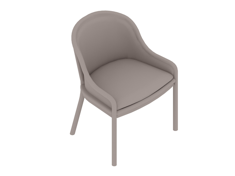 A generic rendering - Landmark Chair–Cane–Low Arms