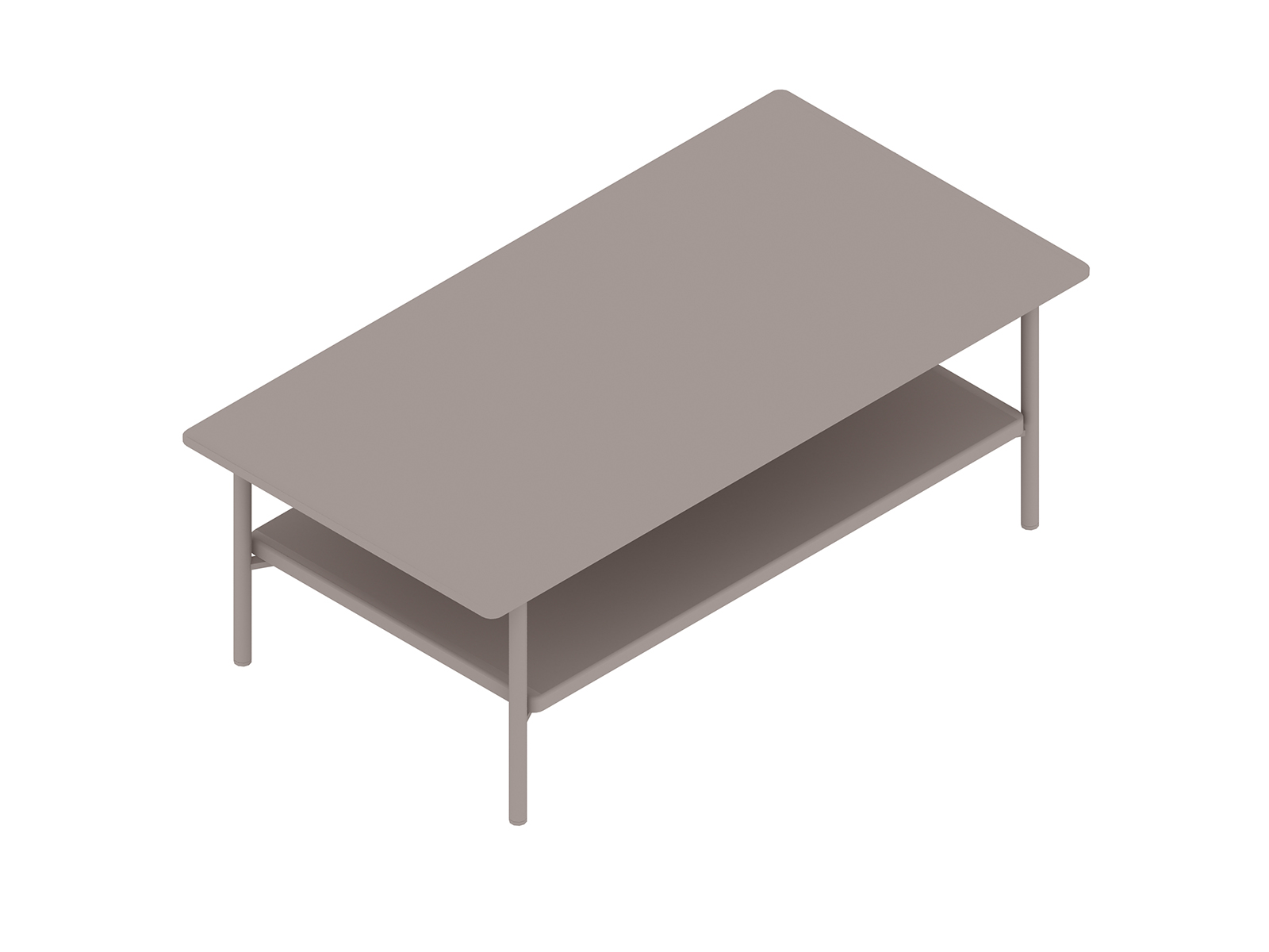 A generic rendering - Layer Coffee Table–Wood Shelf