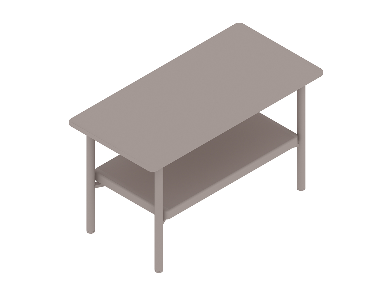 A generic rendering - Layer Side Table–Wood Shelf