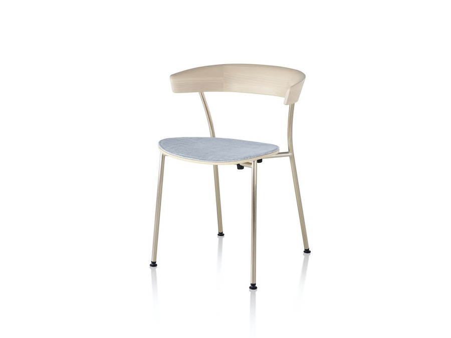 A photo - Leeway Chair–Metal Frame–Upholstered Seat