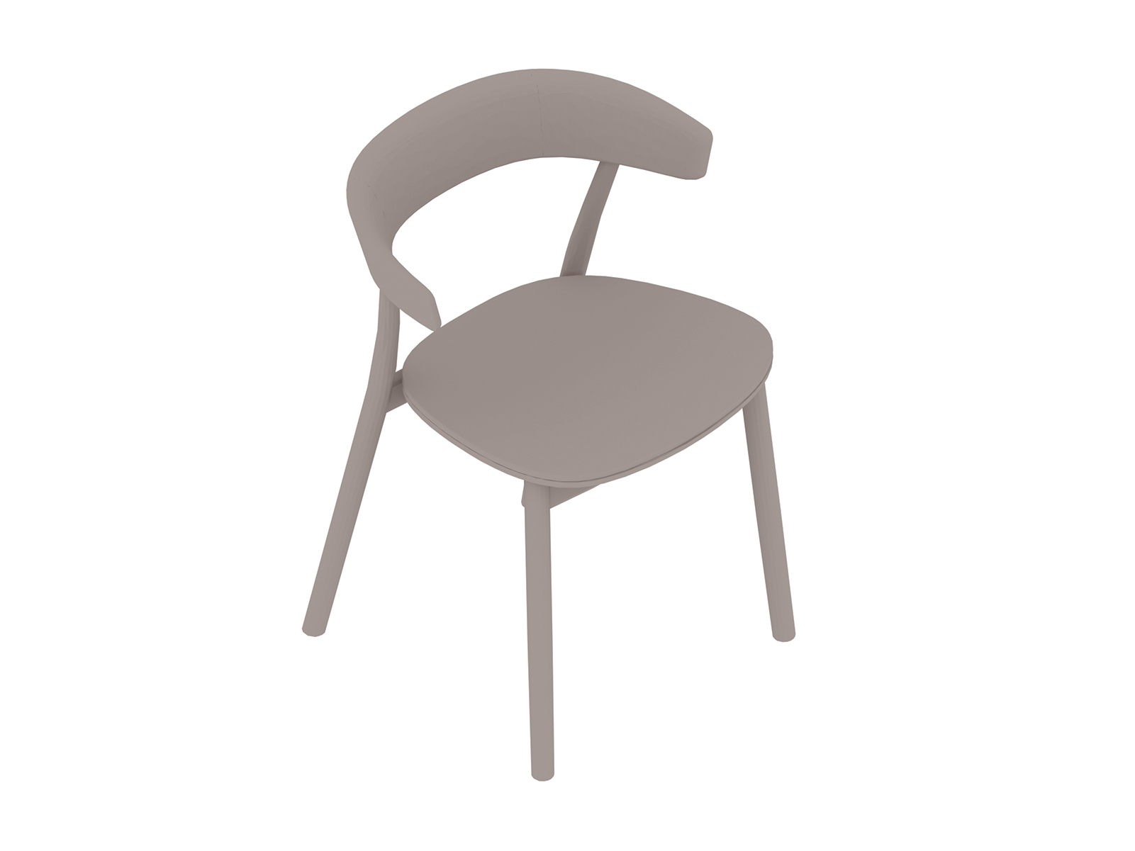 A generic rendering - Leeway Chair–Wood Frame–Upholstered Seat