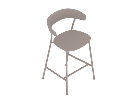 A generic rendering - Leeway Stool–Counter Height–Polyurethane Seat