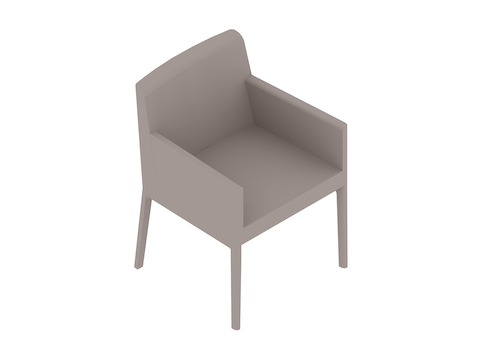 A generic rendering - Nessel Chair–With Arms