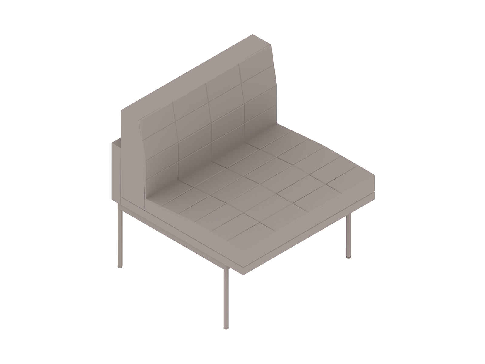 A generic rendering - Tuxedo Component Club Chair–Armless