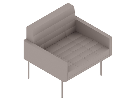 A generic rendering - Tuxedo Component Club Chair–With Arms