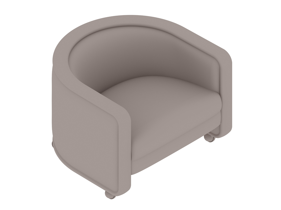 A generic rendering - U-Chair–With Casters