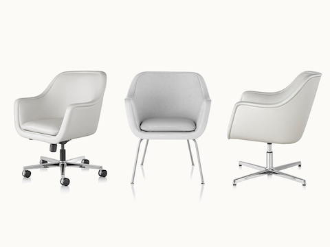 Three Bumper Chairs shown at various angles, including office, side, and lounge models.
