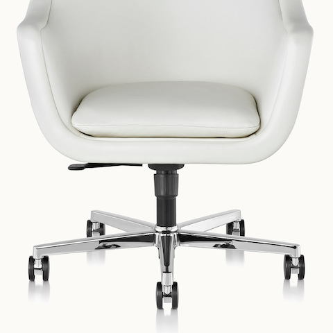 Partial front view of a Bumper office or conference chair, showing the five-star swivel base.