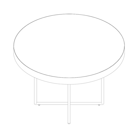 Line drawing of a Domino Table, viewed from above.