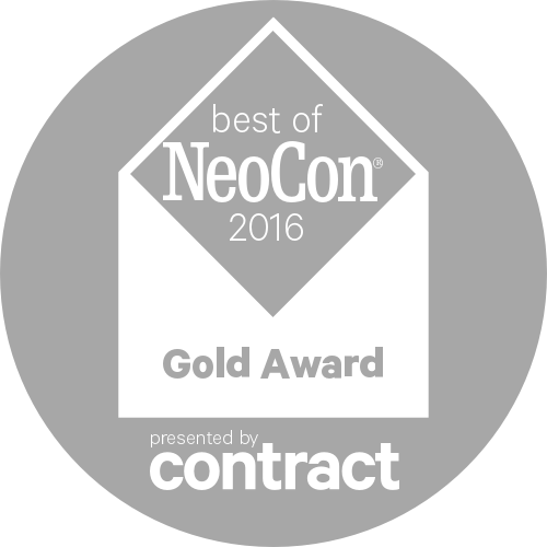 A logo for the Best of NeoCon 2016 Gold award.