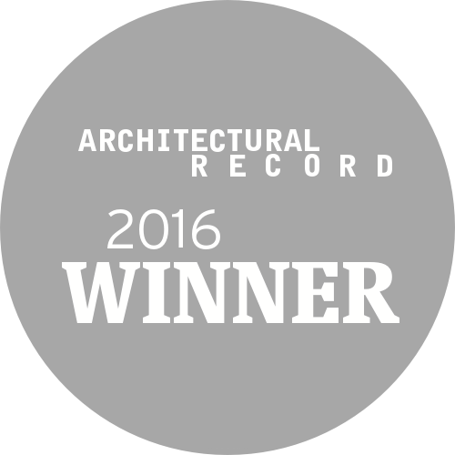 A logo for the 2016 Winner award from Architectural Record magazine.