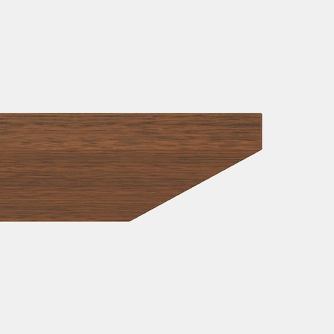 Close-up of the Incline edge option for MP Conference tables, which starts as a straight edge and transitions to a 45-degree angle.