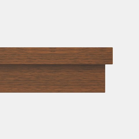 Close-up of the Indent edge option for MP Conference Tables, featuring two square edges, one on top of the other.