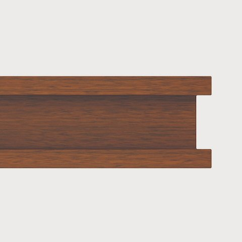 Close-up of the Step edge option for MP Conference Tables, featuring two horizontal ridges.