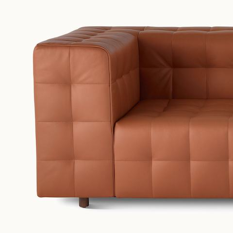 A Rapport three-seat sofa upholstered in leather.