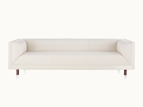 An off-white sofa from the Rolled Arm Sofa Group, viewed from the front.