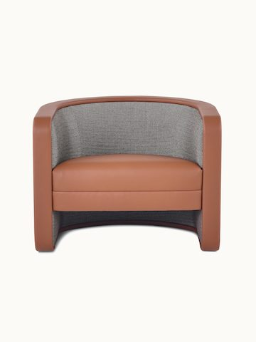 U-Series Lounge Chair with Tenera Maple seat and arms and Wool Tweed Umber back.