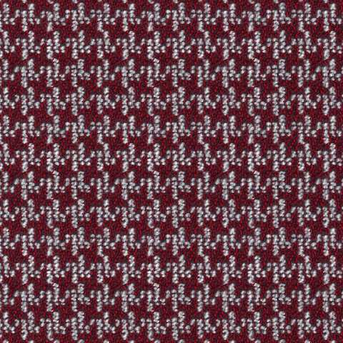 A swatch of Houndstooth Check Garnet.