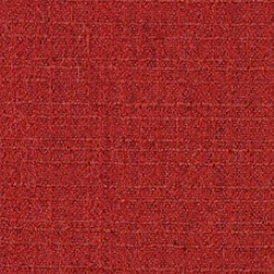 A sample of the Milaner pattern from Geiger Textiles, shown in red.