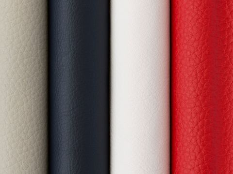 A row of four Geiger leather samples.