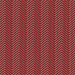 A sample of the True Herringbone pattern from Geiger's Sartorial textile collection, shown in red.