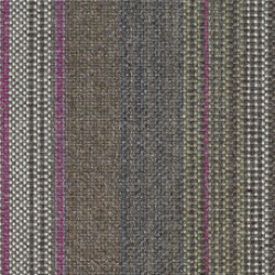 A sample of the Striscia pattern from Geiger's Savona textile collection, shown in earth tones.